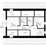 Grundriss 5½-Zimmer-Wohnung (Dachgeschoss)