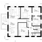 Grundriss 5½-Zimmer-Wohnung (Obergeschoss)
