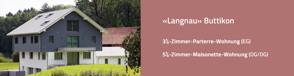 Langnau 45 - Zweifamilienhaus Buttikon 3½-Zimmer-Wohnung Parterre 5½-Zimmer-Wohnung Maisonette